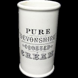 Black Antique Victorian Clotted Cream Pot ~ 1880