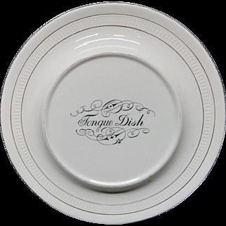 Victorian Ironstone Raised Tongue Dish Plate Server