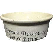 Genuine Victorian Transfer Printed  SHRIMP Pot  ~ 1900