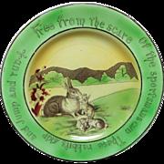 St Augustine Ware Staffordshire Rabbit Rabbitware Plate ~ c1900