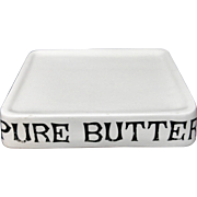 Ironstone PURE BUTTER Dairy Shop Display English Stand c1930