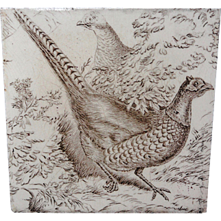 Wedgwood Game Subjects Tile ~ PHEASANT 1876