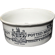 19th Century Victorian Meat Paste Pot 1895