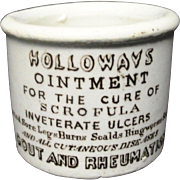 Quack Medicine ~ Scrofula Tuberculosis Ointment Pot ~ 1880