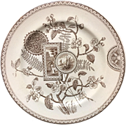 Outstanding Brown Aesthetic Plate ~ TUNIS 1885