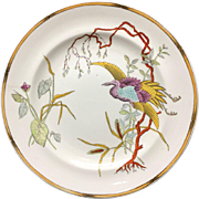 Royal Worcester Polychrome Plate ~ Rare EGRET 1877