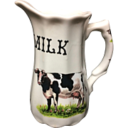 Pure Milk English Pitcher ~ 20th Century
