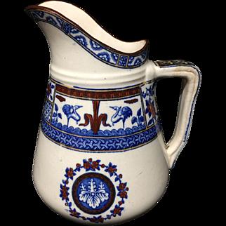 Antique Victorian English Polychrome Milk Creamer ~ KIOTO 1880