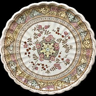 Brown Aesthetic Movement Transfer Charger Platter ~ GORDON 1885