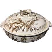 1883 ~ Wedgwood Covered Rare Round Tureen ~ SEAWEED 1883 ~ Outstanding