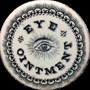1880 ~ QUACK Medicine ~ Eye Ointment Pot