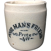 1880 ~ Poor Man's Friend Pot ~ QUACK Medicine