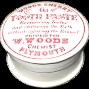 "English ""Quack Medicine"" CHERRY Tooth Paste ~ 1890"