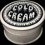 Victorian English Melting Dripping Cold Cream Pot ~ 1880