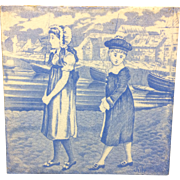 Tile ~ Wedgwood Months ~ JULY ~ Children at the Sea ~ 1879