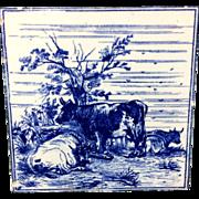 1879 ~ Minton Tile ~ W. P. Simpson ~ Farm Cows Cattle