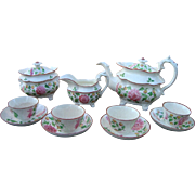 Davenport Leeds Hand Decorated Pearlware Tea Set c1830
