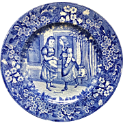 1898 ~ Wedgwood Months Plate ~ JANUARY ~ Girlfriends