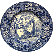 1898 ~ Wedgwood Months Plate ~ MAY ~ Ship Harbor