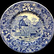 1898 ~ Wedgwood Months Plate ~ OCTOBER ~ Walking Pig