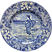 1898 ~ Wedgwood Months Plate ~ NOVEMBER Fish Basket