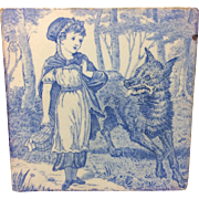 1879 ~ Tile ~ Wedgewood Little Red Riding Hood & Wolf