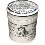 1850 ~ Finigan's Nutritive Cream for the Hair ~ Quack Medicine ~ Large Size