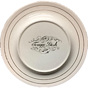 Tongue Dish Victorian Ironstone Raised Plate Server