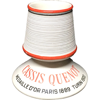 c 1900 ~ Match Strike French Victorian  ~ Cassis Wine