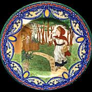 1879 ~ Wedgwood Transferware Plate ~ Red Riding Hood