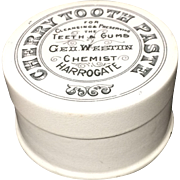 1885 ~ Quack Medicine Victorian CHERRY Tooth Paste Pot