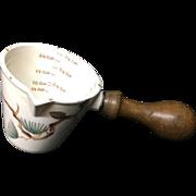White Earthenware Kitchen Kitchenalia Measuring Cup ~ 20th Century