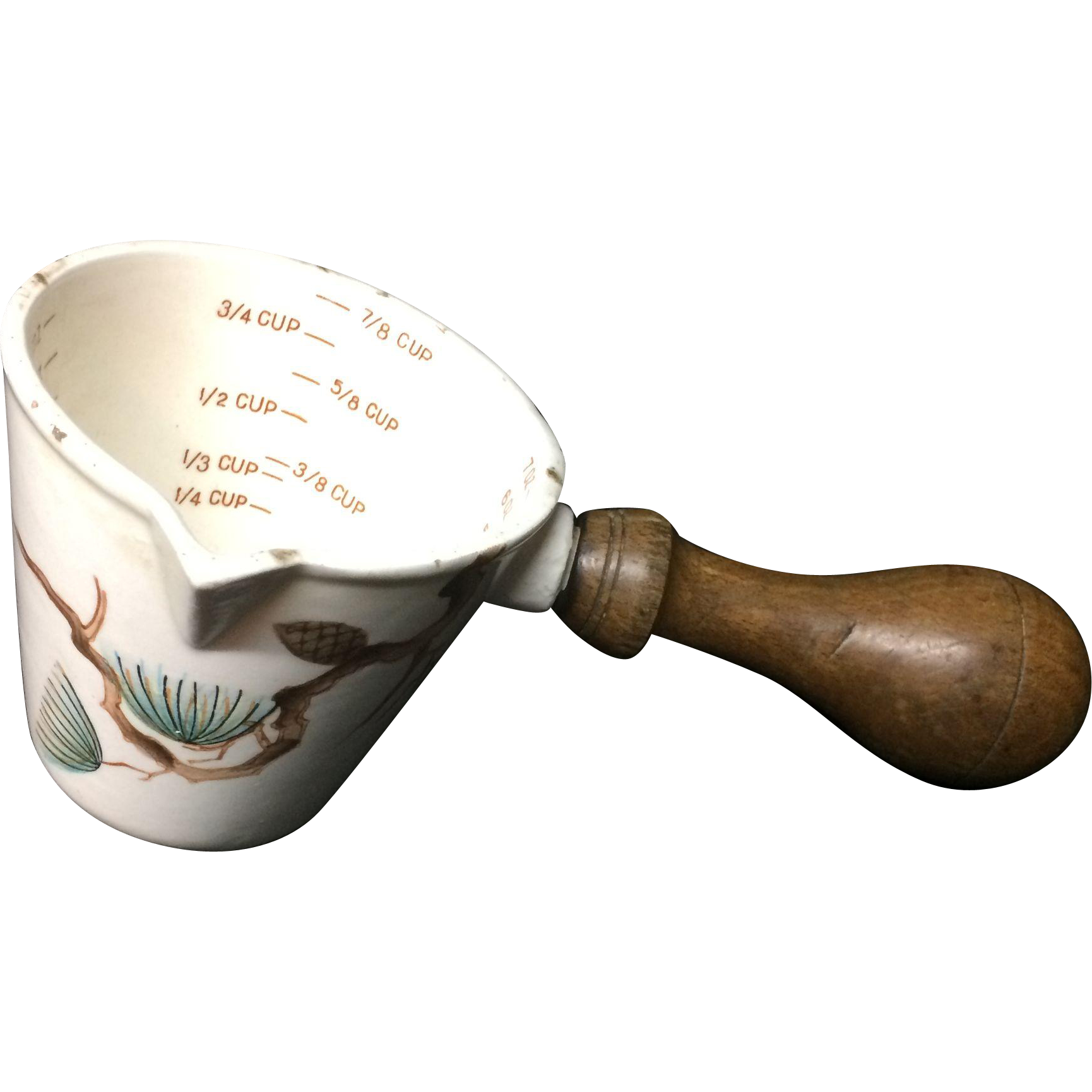 White Earthenware Kitchen Kitchenalia Measuring Cup ~ 20th Century