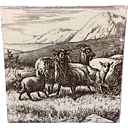 William Wise Farm Goats Tile 1879