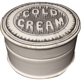 1880 ~ Victorian English Melting Dripping Cold Cream Pot