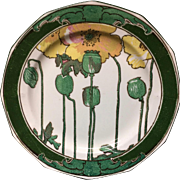 1921 ~ Royal Doulton Art Nouveau POPPIES Plate 1921