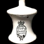 1910 ~ Antique Ironstone Gourmet Pie Vent Chimney