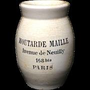 1900 Antique French Mustard - Moutarde de Maille ~ Paris 1900