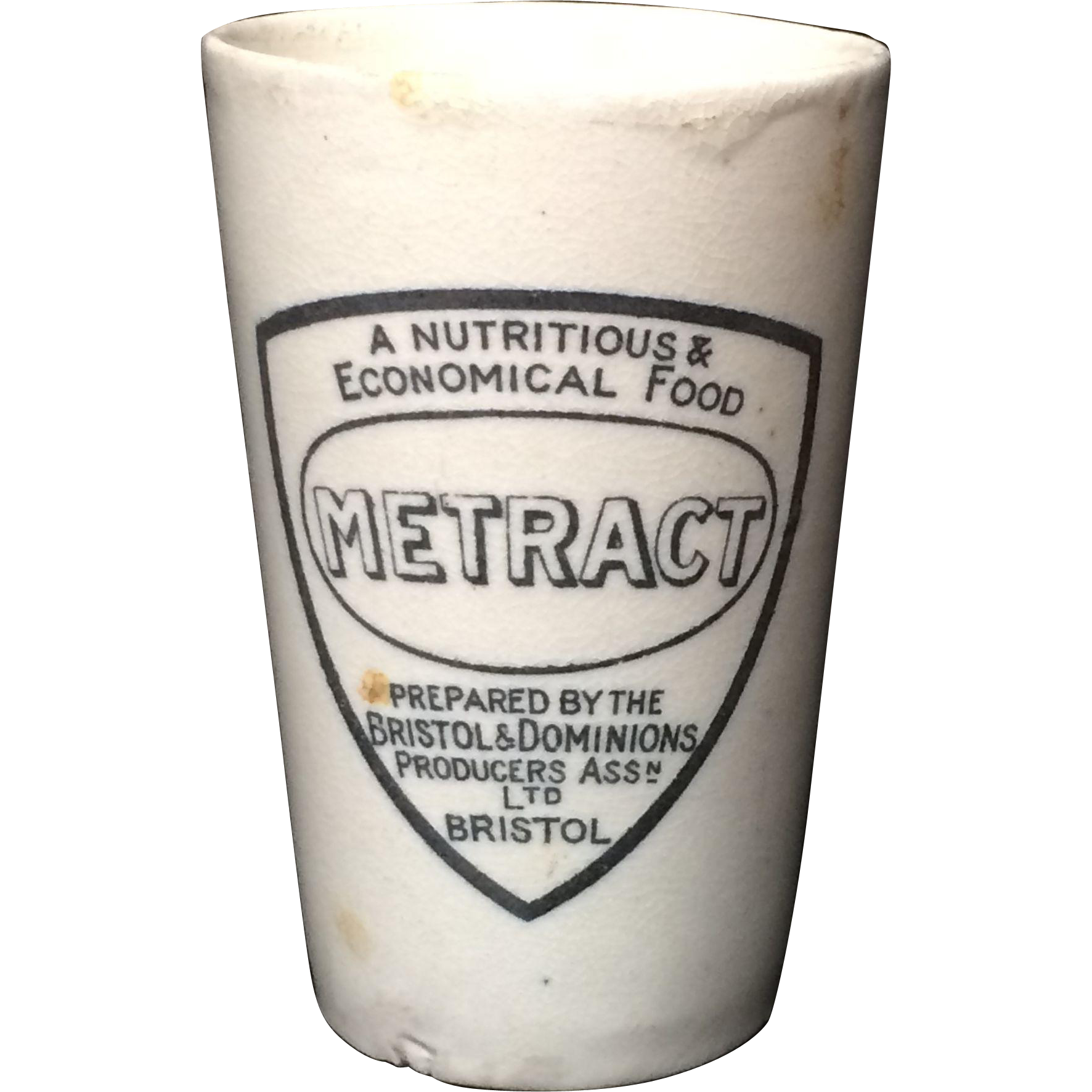 Large Beaker Quack Medicine ~ Invalid Food METRACT  ~ 1880