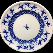 Christopher Dresser Minton Transferware Plate~ Japanese Crane 1875