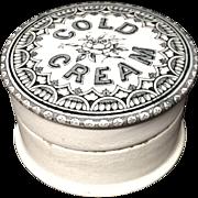English Antique COLD CREAM Pot 1880