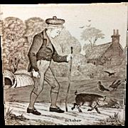 Wedgwood October Months Series Tile 1879
