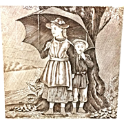 Tile ~ Victorian Wedgwood Months ~ APRIL ~ 1879
