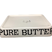 Ironstone PURE BUTTER Dairy Shop Display English Stand c1950
