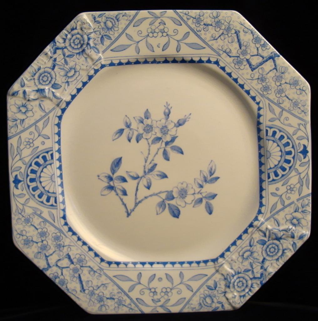 Blue Aesthetic Transferware Cake Plate 1890