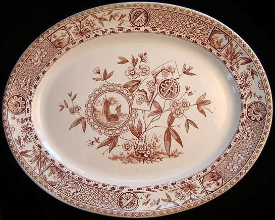Aesthetic Movement Brown Platter ~ SITKA 1885