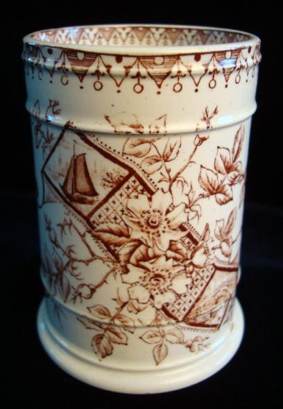 EXC Aesthetic Transfer Vase ~ Sailboats 1890