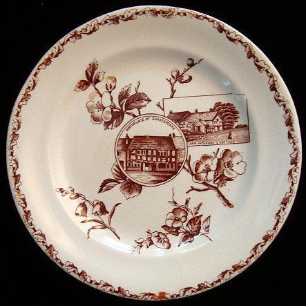 Victorian Shakespeare + Hathaway Plate 1880