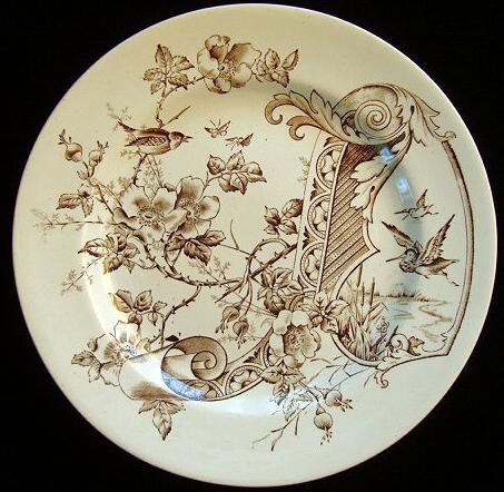 Aesthetic Transferware Plate ~ Butterflies 1885