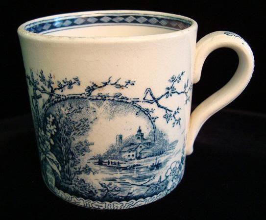 Antique Aesthetic Movement Mug ~ Raspberries 1886